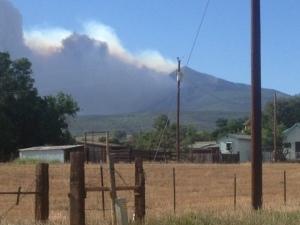 east peak fire