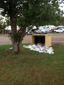 trash bin over