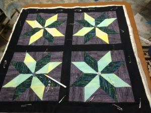 pinned quilt